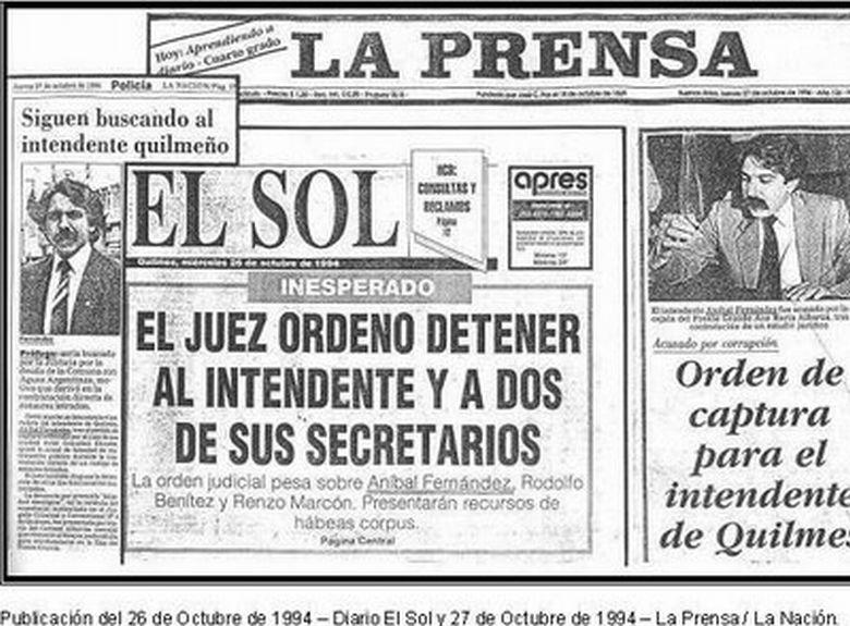 El día que Aníbal Fernández estuvo prófugo de la justicia   Tribuna de  Periodistas