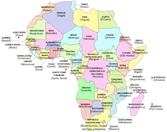 AFRICA PAISES Y CAPITALES